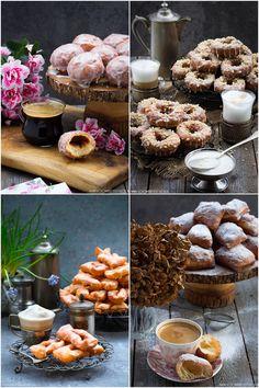 Przepisy na Tłusty Czwartek Cereal, Stuffed Mushrooms, Cookies, Table Decorations, Vegetables, Breakfast, Food, Carnival, Bakken