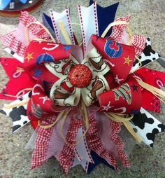 Cowgirl OVER THE TOP Hair Bow
