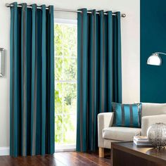Hotel Petrol Melbury Eyelet Curtain Collection | Dunelm