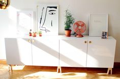 ikea besta sideboard: before and after. niotilfem.