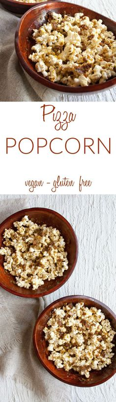 42d5bbb24c4b Pizza Popcorn (vegan Pizza Popcorn (vegan gluten free) - This movie night  snack combines two comfort food favorites. Made easy by making it in a  paper bag ...