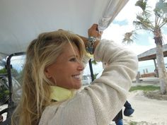 Christie Brinkley wearing the Seaside bracelet by Pamela Huizenga Jewelry Designer - PR by Media News Blast.