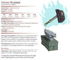 D&D Basic Monsters: Flying Hammer.