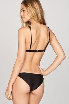 Amuse Society Mallory Skimpy Bikini Bottom in Black. Beauty Boutique, Fashion Boutique, Bikini Retro, Outfit Shop, Black Beauty, Bikini Bottoms, Bikinis, Swimwear, Sketch
