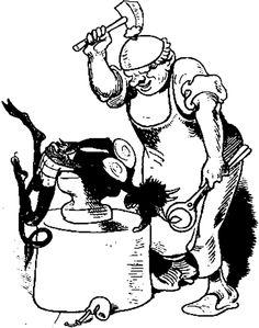 illustrations de wilhelm busch | Schmied und Teufel von Wilhelm Busch - Text im Projekt Gutenberg