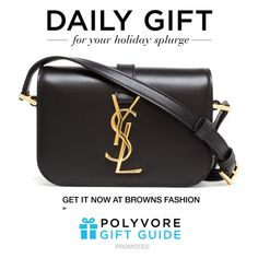 """""""The Daily Gift: Saint Laurent Mini Monogram Bag"""" by polyvore-editorial ❤ liked on Polyvore featuring Yves Saint Laurent and dailygift"""