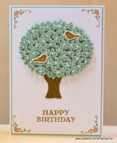 JanB Handmade Cards Atelier: Double-layer Tree Card Video