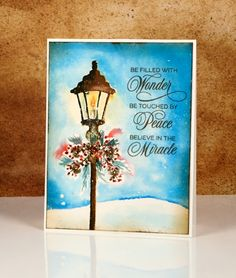 Today I have a 'vintagy' lamp-post card to share. 'Vintagy' because it is a different to my recent 'vintage watercolour' cards; it has more colour. My vintage st…