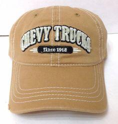 CHEVY TRUCKS HAT Light Brown Tan Distressed Relaxed-Fit Dad Chevrolet Men/Women #GeneralMotors #BaseballCap