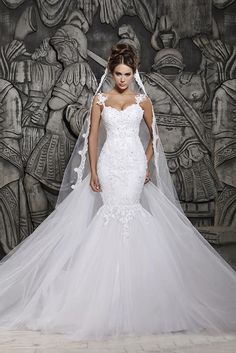 >> Good 2014 Attractive Berta Mermaid Church Wedding ceremony Clothes Plus Measurement White Backless Sweep Tr...