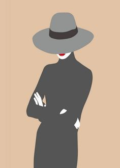 Large rectangular pop art with on woman in turtle neck and large brimmed hat. Lady No. 5 Wall Art By: Salvadori, Sean from Great Big Canvas Rib Tattoos For Guys, Back Drawing, Paper Dolls Clothing, Pop Art Women, Couple Painting, Silhouette Art, Typography Art, Red Hats, Girl With Hat