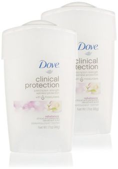 My favorite, hard working but gentle on the skin deodorant.     Dove Clinical Protection Antiperspirant/Deodorant, Rebalance, 1.7 oz Stick (Pack of 2) by Dove, http://www.amazon.com/dp/B004DH1AXC/ref=cm_sw_r_pi_dp_jcqVrb0KA9T6J