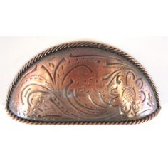 tooled copper drawer pulls