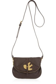 Marc Jacobs - Flap Pouchette Leather Shoulder Bag. I like it bc of the bird.
