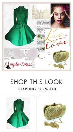 """""""Simple-Dress 12"""" by damira-dlxv ❤ liked on Polyvore featuring Nicki Minaj and modern"""
