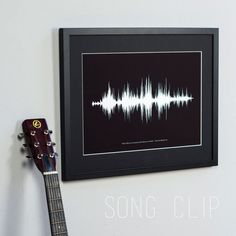Gift idea for the musician in your life: a custom sound wave print.