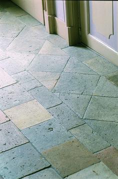 Antique French floor tiles, rare Burgundy tiles in light shades, interior, historical, design
