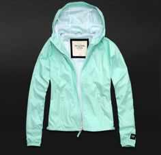 Abercrombie & Fitch's Mint Blue Wind Breaker! Getting This One Too! <3333333333333