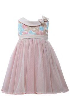 Bonnie Jean Aqua Bubble Special Occasion Dress with Bracelet for Mom