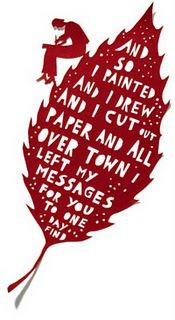 Rob Ryan: blade runner One of my FAVORITES: papercut by Rob Ryan I can imagine doing this. leaving little messages, cut from my heart, all over town. Rob Ryan, Paper Towns, Book People, Paper Artist, Blade Runner, Paper Cutting, Cut Paper, Word Art, Illustration Art