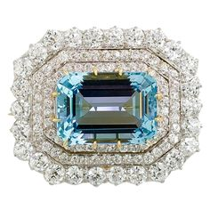 Aquamarine #Brooch  -  #Tiffany & Co., 1890s #antique