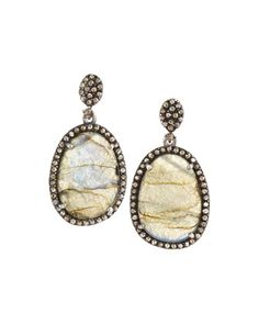Labradorite & Champagne Diamond Double-Drop Earrings by Bavna at Neiman Marcus Last Call.