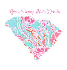 State Decal Lilly Pulitzer patterns Vineyard Vines Chevron Dots and more
