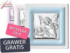 GRAWER GRATIS!  Pamiątka Chrztu - Obrazek Aniołki