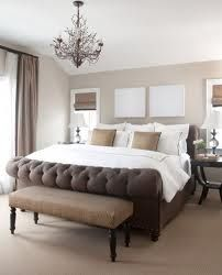 I love the dark color , and the look of a tufted bed.