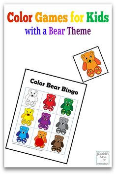 Color Games for Kids with a Bear Theme - Pinterest Picture