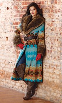 Aztec style boho chic coat for that western style winter look. Cowgirl Chic, Western Chic, Cowgirl Style, Western Wear, Gypsy Cowgirl, Boho Fashion, Autumn Fashion, Cowgirl Fashion, Cowgirl Clothing