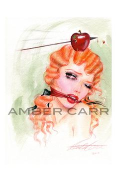 "Image of ""Apple and Arrow- color"" 11"" x 17"" print"