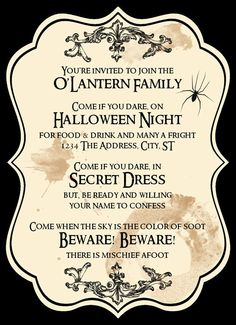 Pinterest and Facebook are the place to look for unnerving invitations for Halloween parties