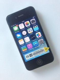 """APPLE iPHONE 4 BLACK (16GB) ORANGE EE VIRGIN - MINT CONDITION - 1 DAY AUCTION 