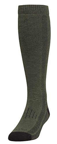 Farm to Feet Men's Hickory Heavyweight Over-The-Calf Socks, Olive Night/Black * See this awesome image  : Hiking clothes