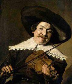 Frans Hals (Antwerp 1582 – Haarlem 1666)  Daniel van Aken Playing the Violin
