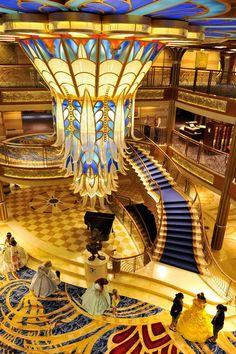 Disney Dream Cruise Ship Interior Atrium Lobby   niepers ...