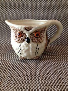 Vintage Enesco Owl Jug