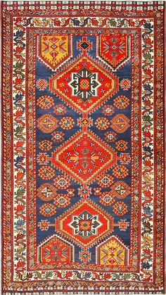 View this beautiful small Persian Tribal Qashqai rug 49152 from Nazmiyal Collection in New York City.