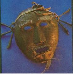 Another example of the Buryat Abgaldai mask ongon. The Abgaldai is found throughout eastern Siberia and among all Mongolian peoples