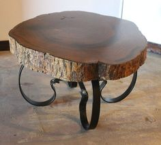 Handcrafted U0026 Reclaimed Solid Wood Slab Coffee Table By AaCcBb, $1495.00