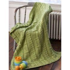 Free Easy Baby's Blanket Knit Pattern | Patone 2017 Greenery | Yarnspirations