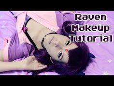 ✨Raven Makeup Tutorial✨ - YouTube More Cosplay Tutorial, Cosplay Diy, Cosplay Makeup, Cosplay Outfits, Cosplay Ideas, Raven Teen Titans Cosplay, Raven Cosplay, Adult Costumes, Halloween Costumes