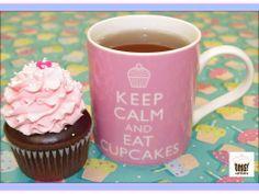 Keep Calm and Eat Omg! Cupcakes!  Visit Omg! Cupcakes at www.facebook.com/OmgCupcakesGP Keep Calm, Cupcakes, Facebook, Mugs, Eat, Tableware, Cupcake Cakes, Dinnerware, Stay Calm