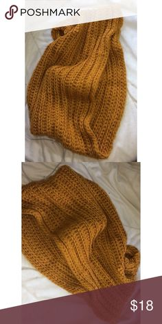 cbc70dba5200 Mustard Thick Knitted Scarf Infinity Thick Knitted Scarf! Super Big It  Keeps You 100%