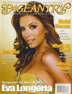Eva Longoria, IMTA 1998, on the cover of Pageantry magazine!