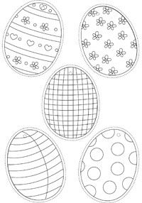 Easter Eggs Colouring Page (huge printable collection of many themes) Easter Egg Coloring Pages, Coloring Book Pages, Easter Projects, Easter Crafts For Kids, Easter Printables, Free Printables, Easter Party, Easter Gift, Diy Ostern