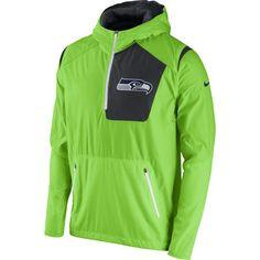 Nike Seattle Seahawks Neon Green Vapor Speed Fly Rush Half-Zip Jacket