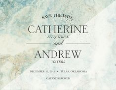 """Light and Dark Stone """"Save the Date"""" Invitation 
