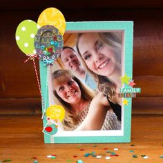Lori Whitlock April Off The Page Challenge: Celebrations! (with 5x7 Shadow Box Frame by Kathy Skou).